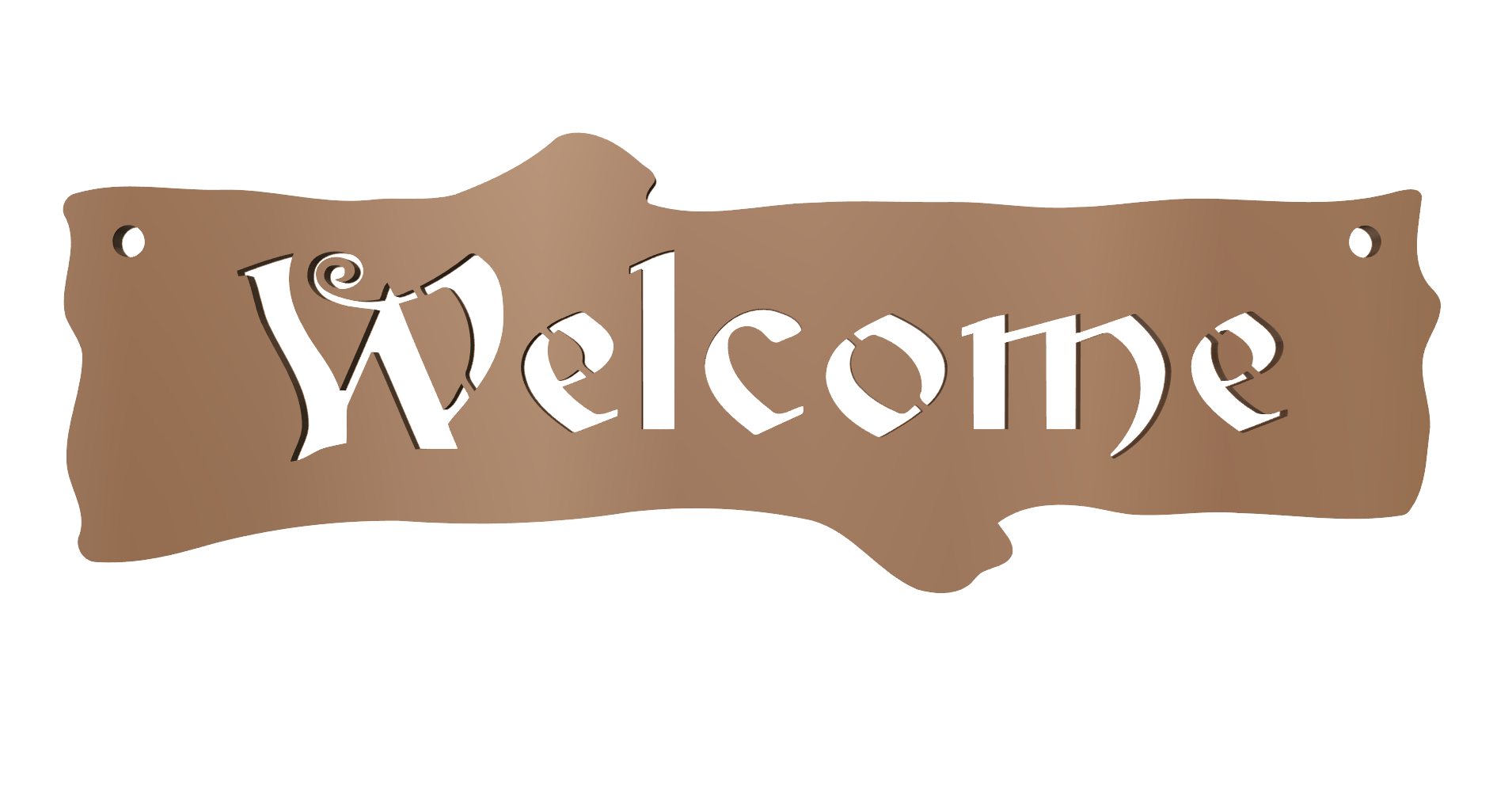 Welcome sign png. Vector free dxf files