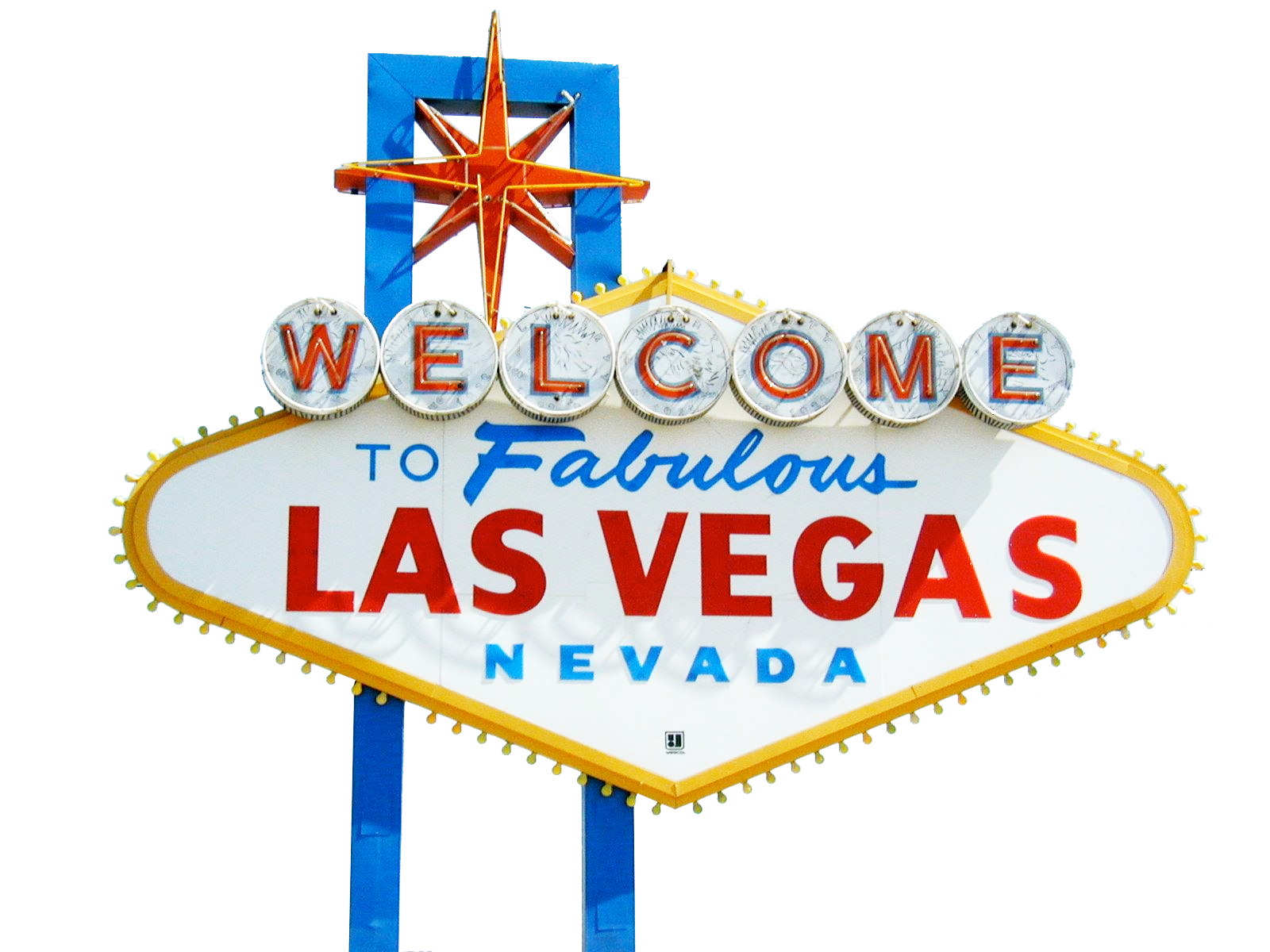 Vegas vector illustration. Welcome lasvegas sign png