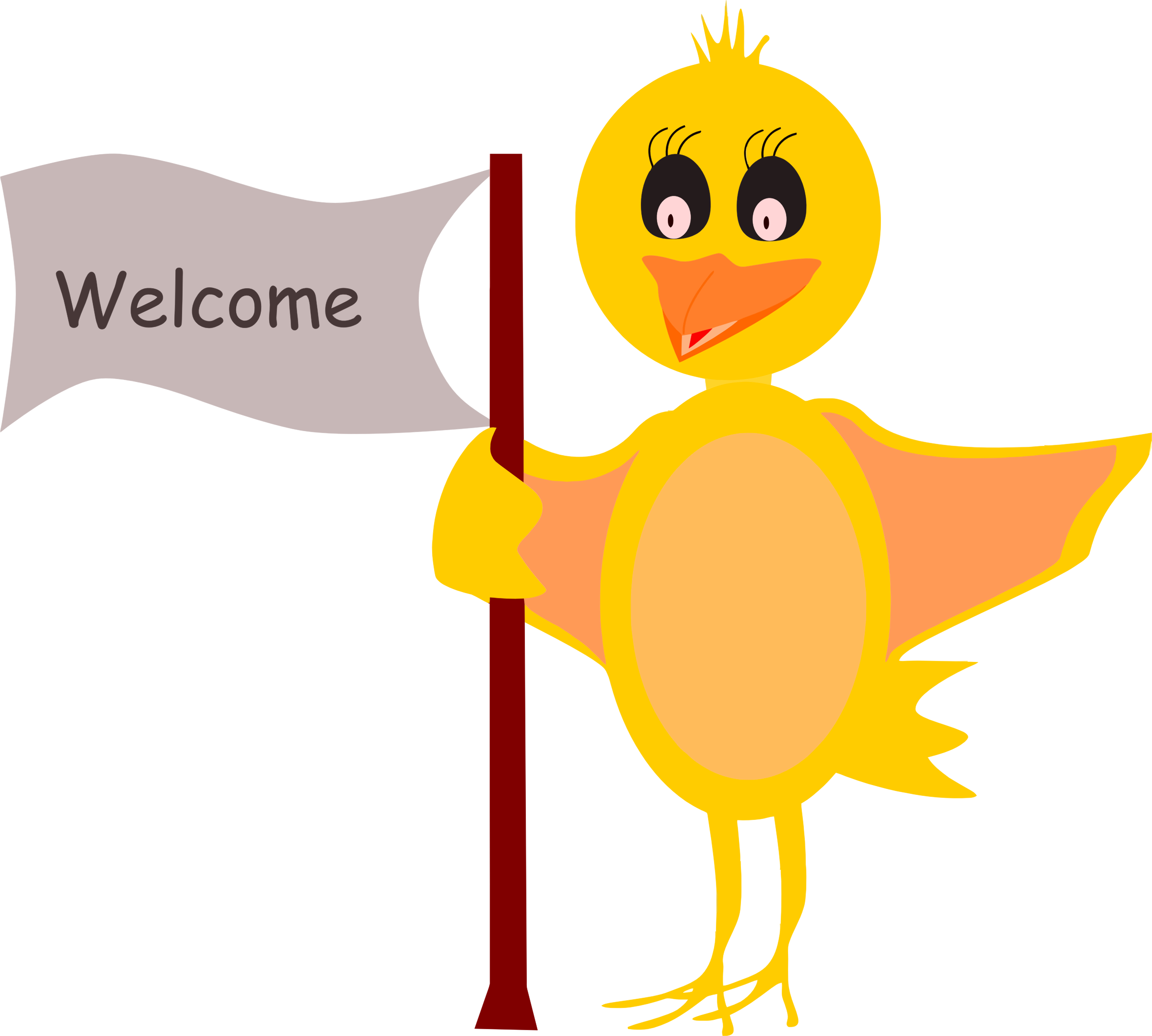 Welcome to sign png. Cartoon bird with icons