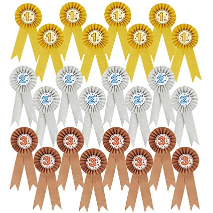 Well clipart participation ribbon. Amazon com pack award