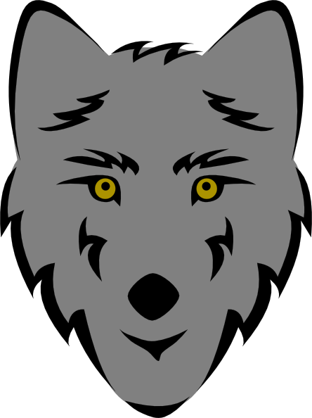 Wolf Head Stylized Clip Art at Clker