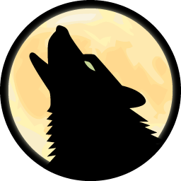 Howling wolf png. Icons vector free and