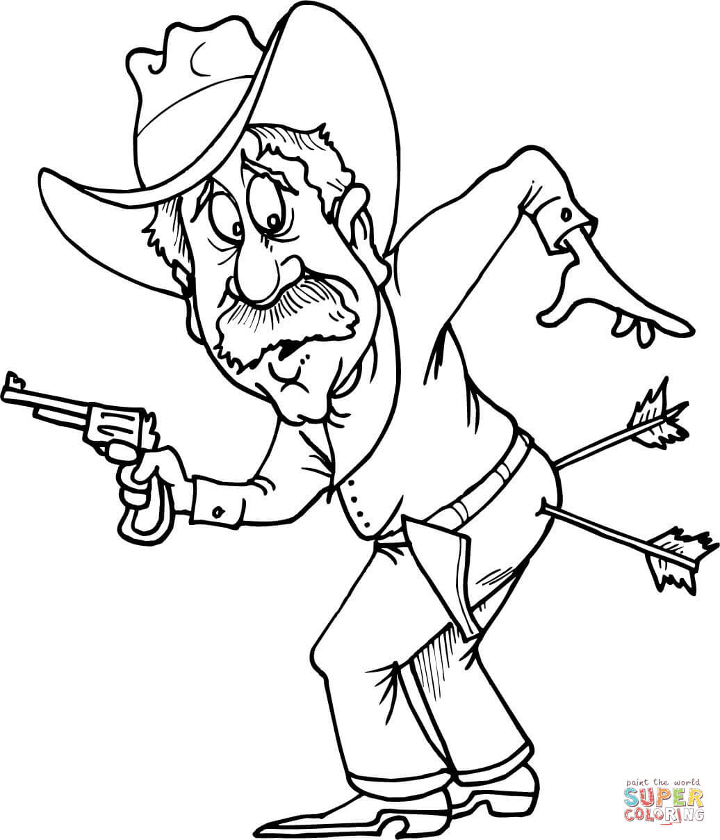 Western clipart arrow. Cowboy drawing at getdrawings