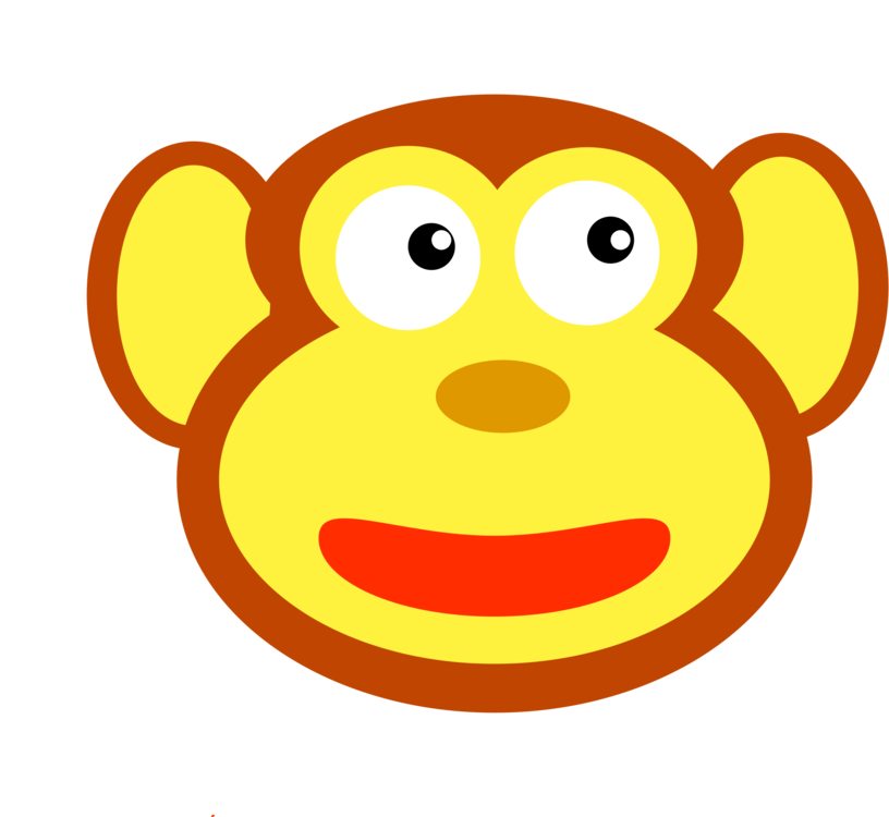 Western clipart face. Primate monkey baboons gorilla