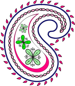 Cliparts pink design. Western clipart paisley image royalty free stock