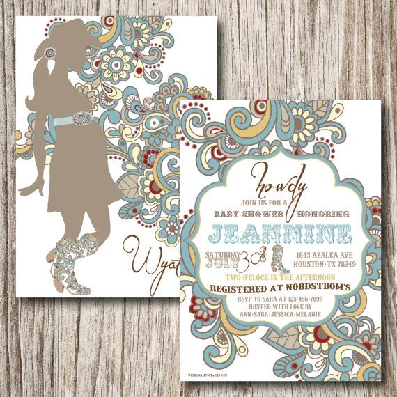 Cowgirl aqua turquoise baby. Western clipart paisley clipart free stock
