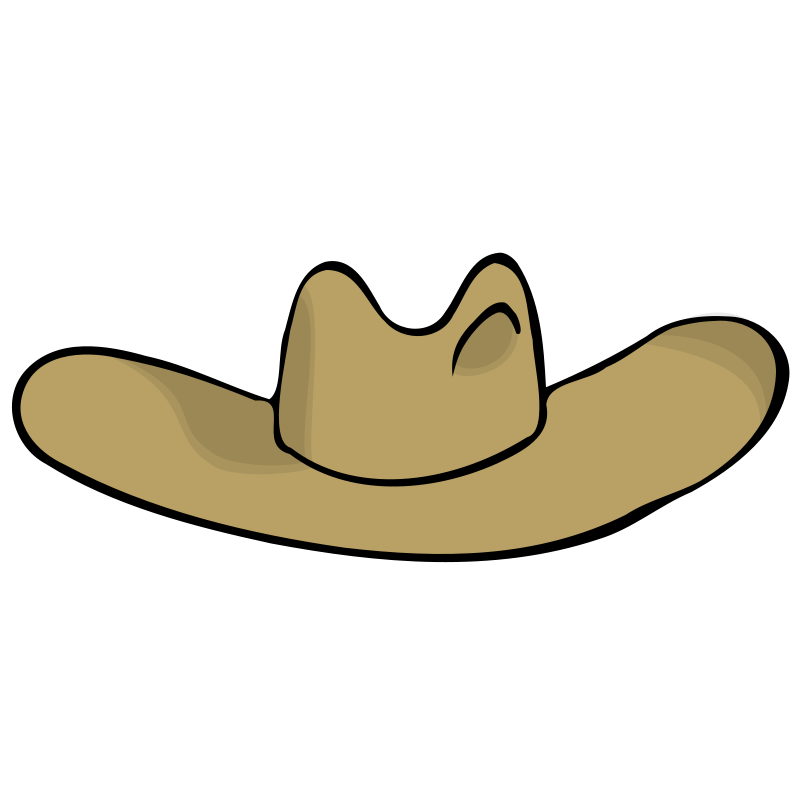 Western clipart ten gallon hat. Free drawing cowboy png