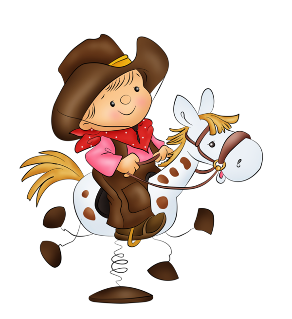 Western clipart watercolor. Personnages illustration individu personne
