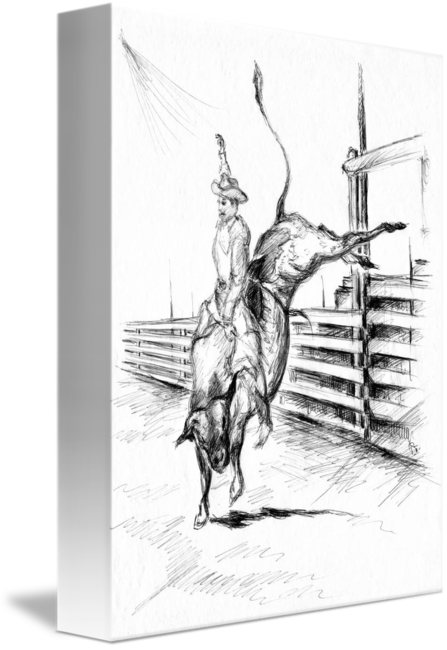 Rodeo bull ride western. V drawing traditional clip freeuse stock