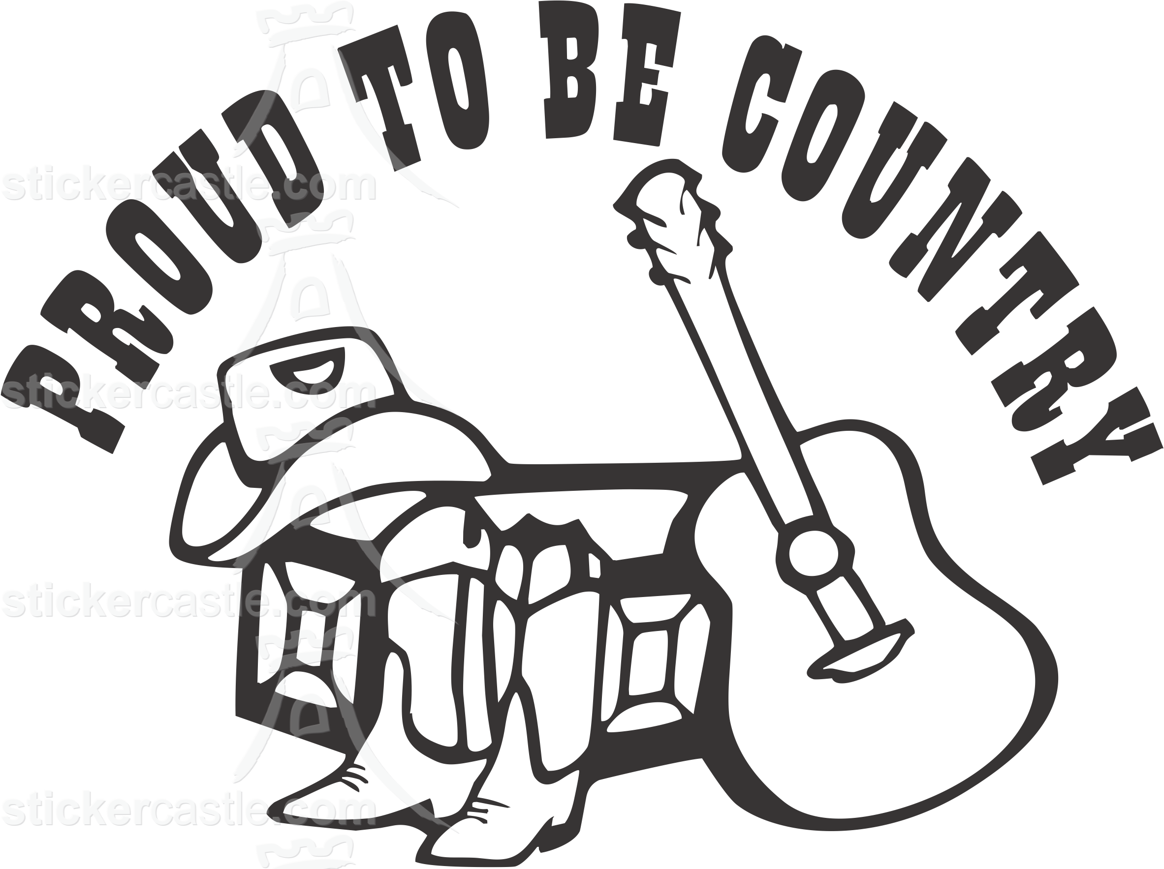 Western drawing country. Sticker decal stickers i