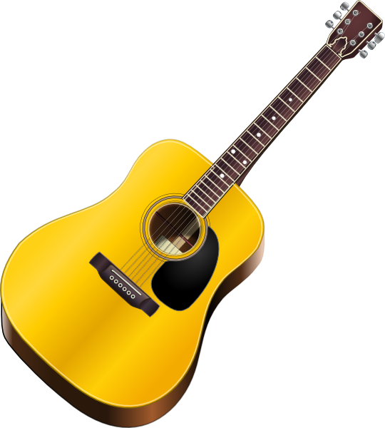 Western drawing guitar. Clip art vector online