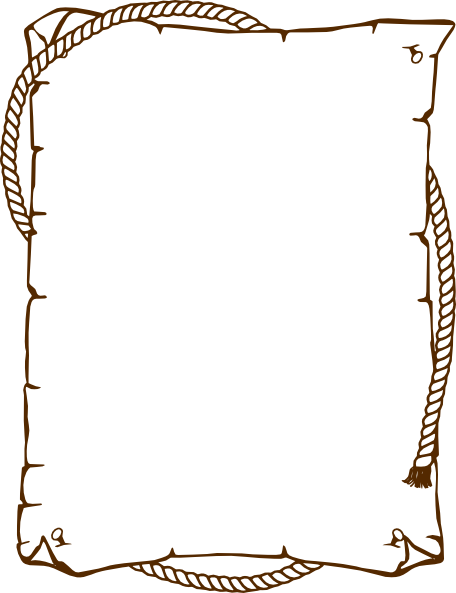 Western frame png. Free stationary borders brownwestern