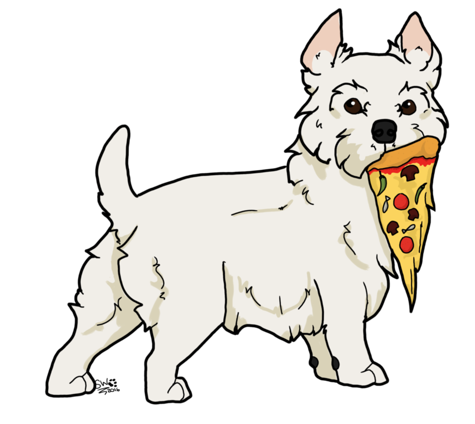 Westie drawing svg. Gift pizza by shewolfey