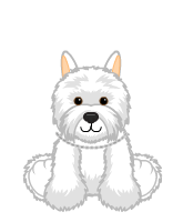 Westie drawing 4th july. Signature west highland terrier