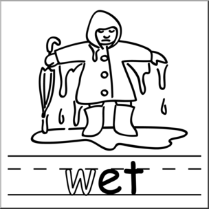 Wet clipart. Clip art basic words
