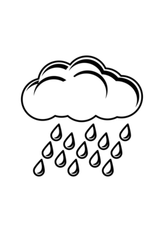 Season drawing outline. Cloud rain computer icons