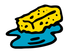 Wet clipart wet thing. Sponge