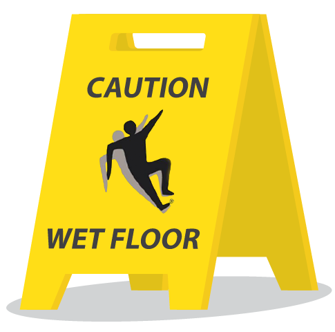 Wet floor caution sign icon png. Nfsi slip trip and