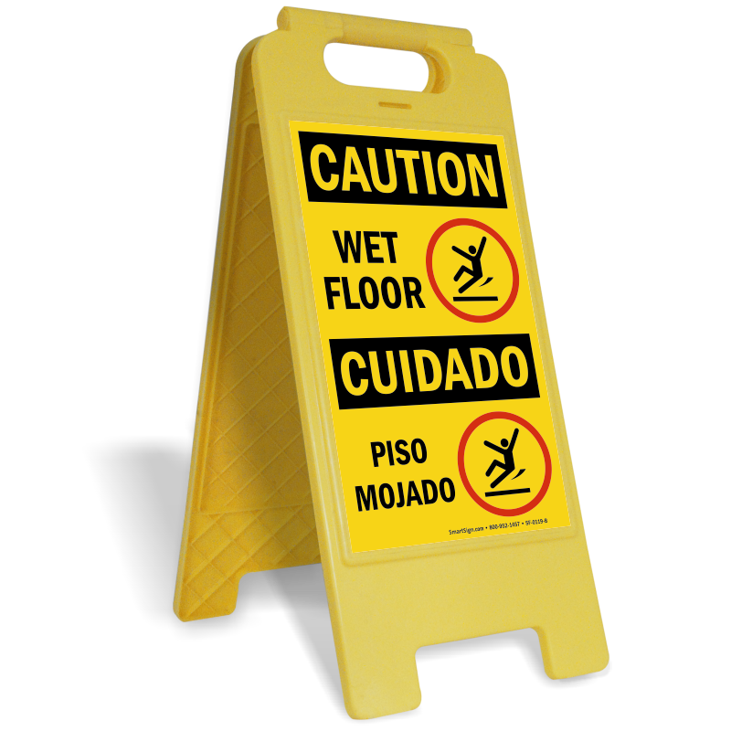 Wet floor caution sign icon png. Bilingual piso mojado free