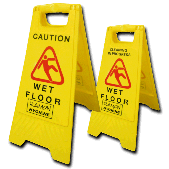 Wet floor sign png. Caution for floors plastic