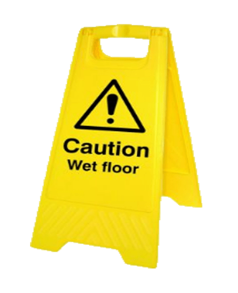 Wet floor sign png. Caution health and safety