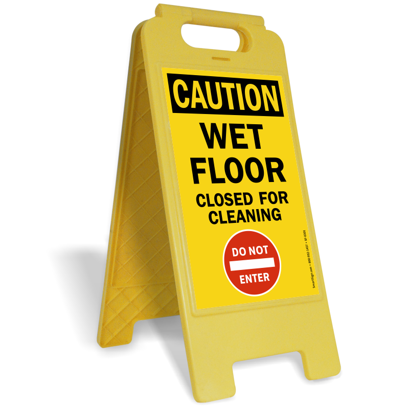 Wet floor sign png. Caution closed for cleaning