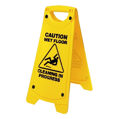 Wet floor sign png. Caution cleaning in progress
