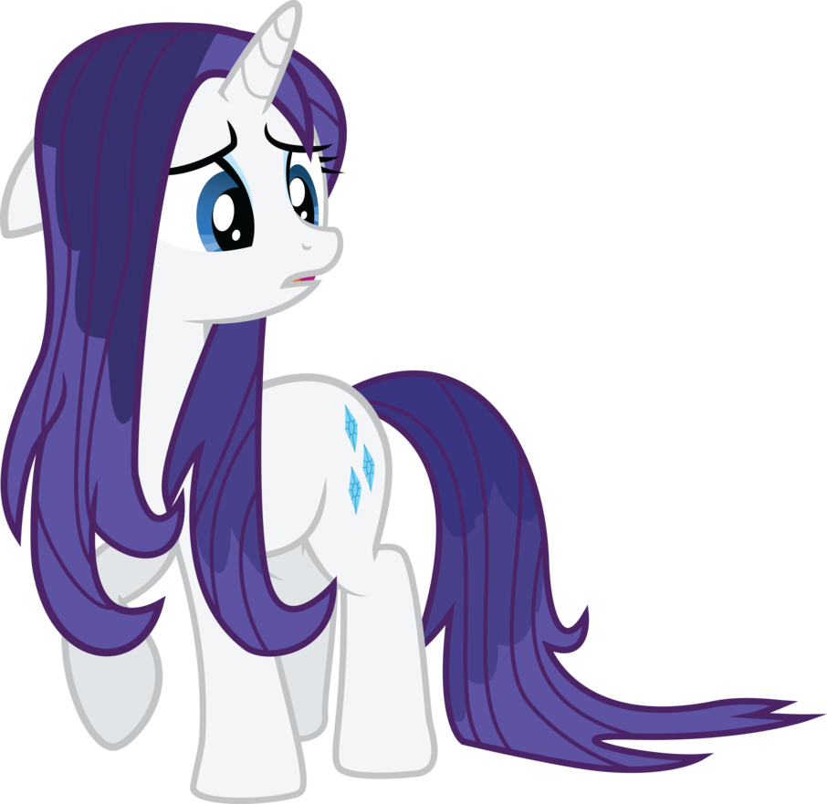 Wet hair png. Rarity is sad and