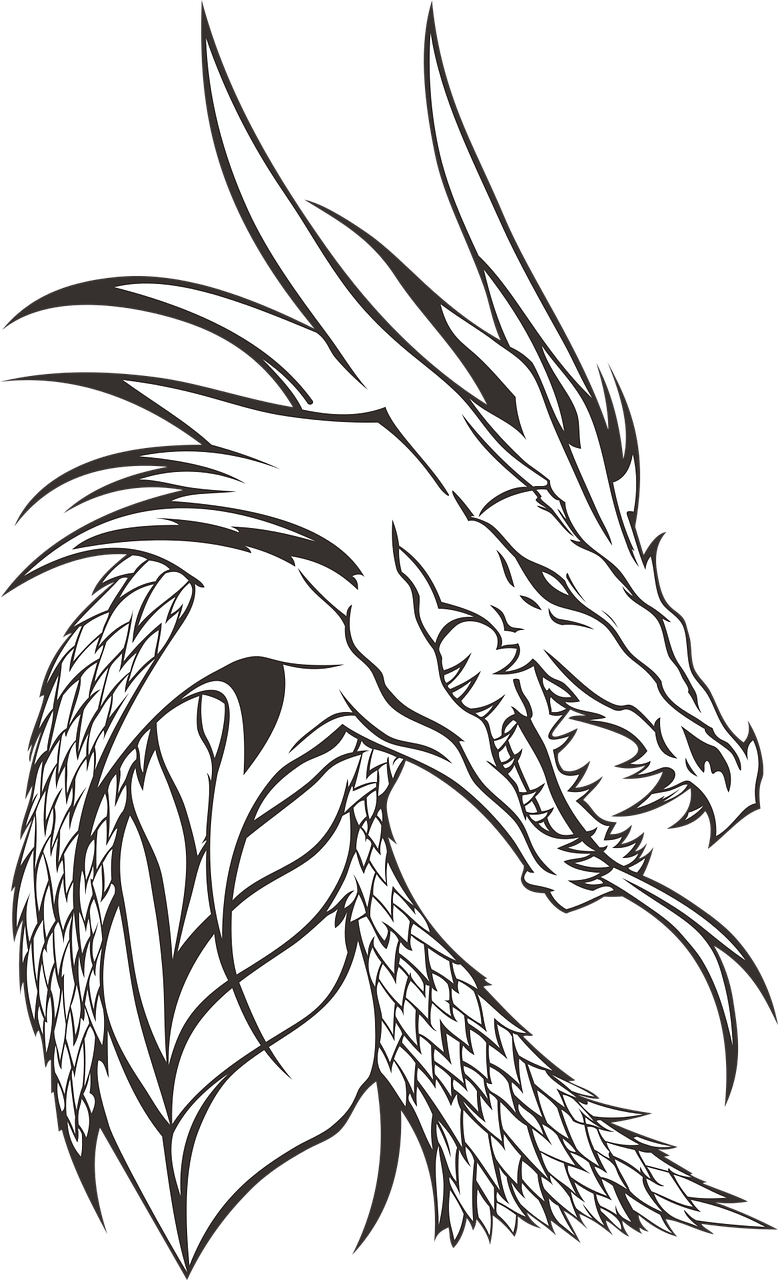 Free image on pixabay. Drawing elves eragon vector black and white download
