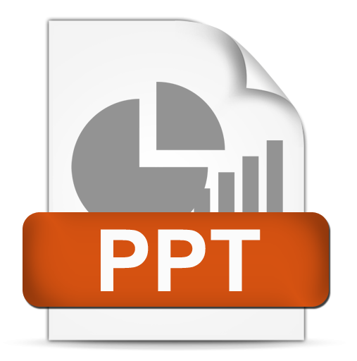 Powerpoint vector thing. File format ppt icon