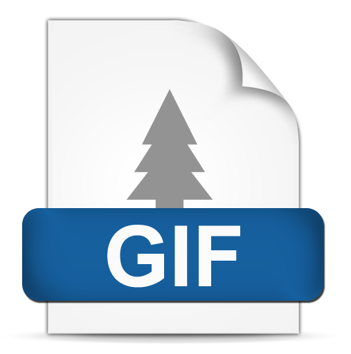 How to convert gif to png. File format icon clipart