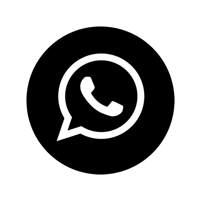 Whatsapp png icon. Black amp white whats
