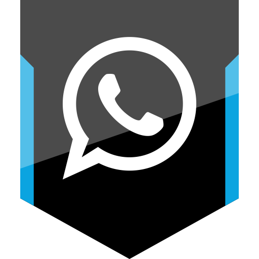 Whatsapp vector icon. Shield social icons free