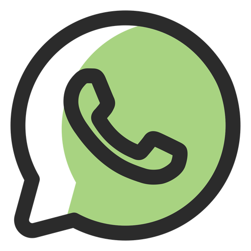 Whatsapp vector png. Colored stroke icon transparent