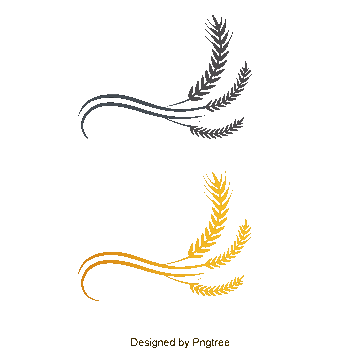 Vector wheat single. Logo png vectors psd