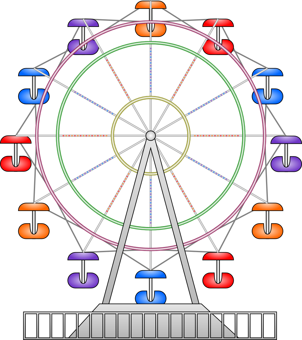 wheel clipart ferris wheel