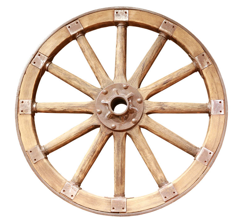 Wheel transparent wagon. Png image with background