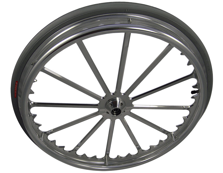 Wheel transparent aluminum. Custom wheelchair wheels fusion