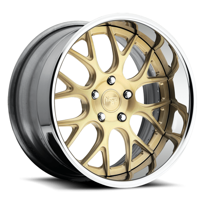 Wheel transparent clear. Niche circuit brushed brass