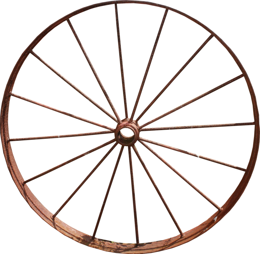 Wheel transparent old. Iron wagon png by