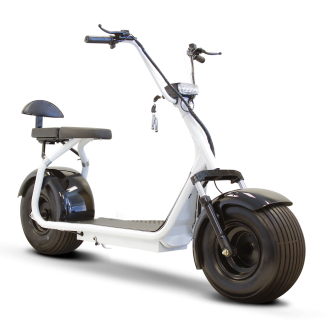 Wheel transparent scooter. Boss flat tire electric
