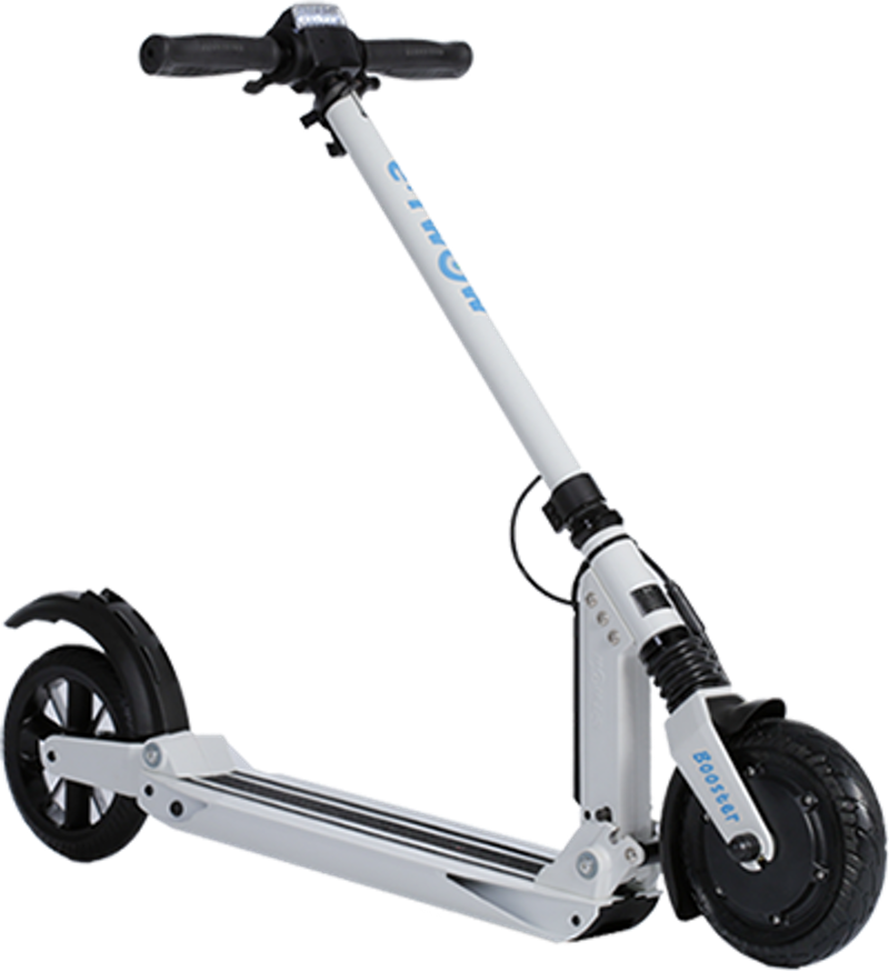Wheel transparent scooter. Electric scooters with regenerative