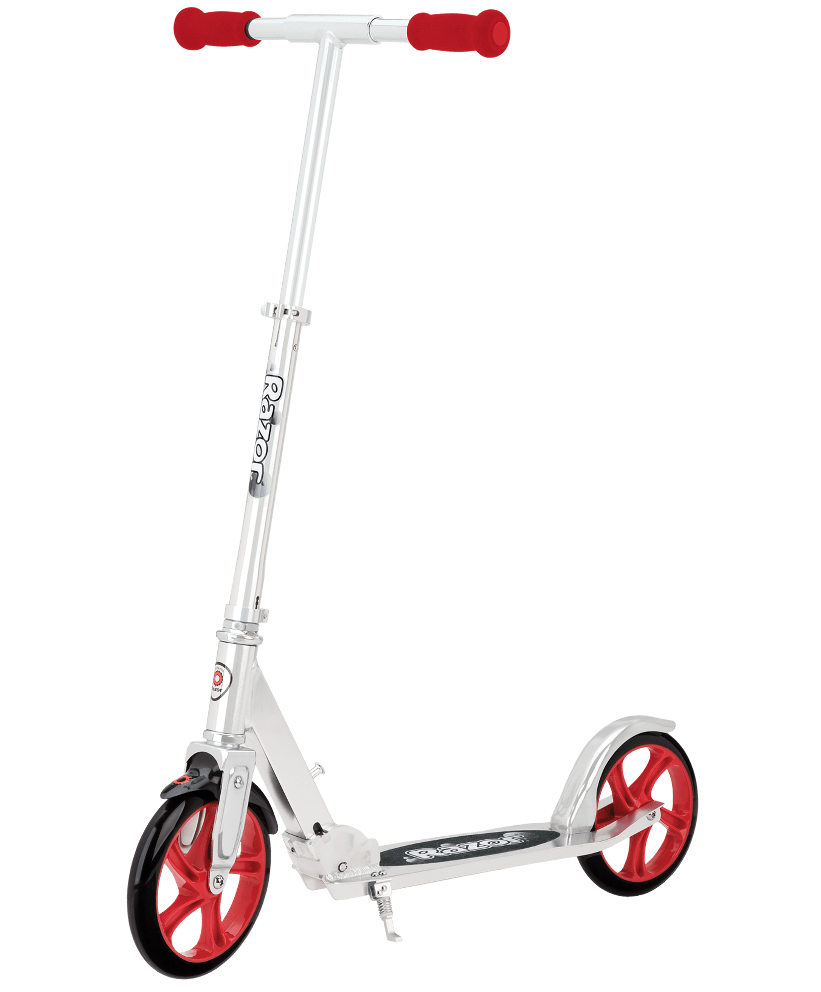Wheel transparent scooter. A lux razor top