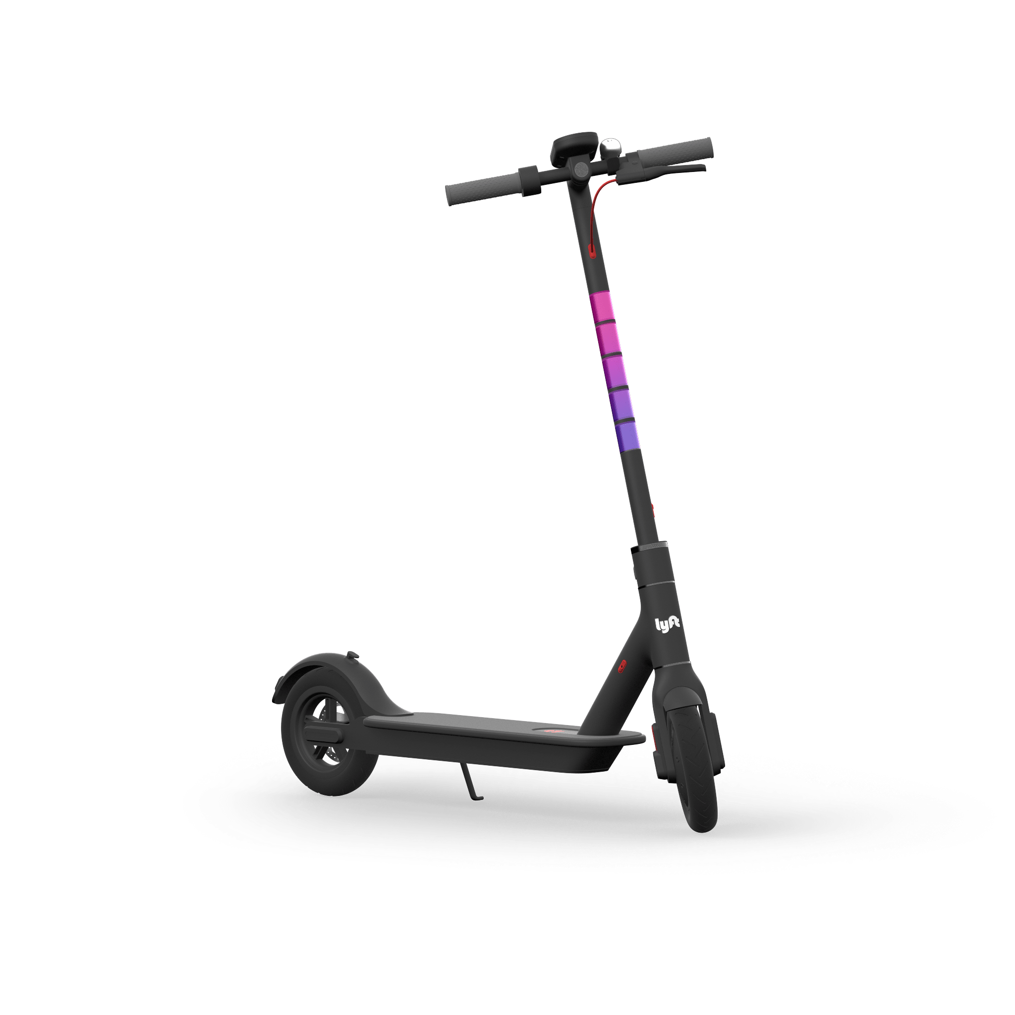 Wheel transparent scooter. Lyft scooters