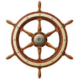 Wheel transparent ship. Outdated icons by messbook