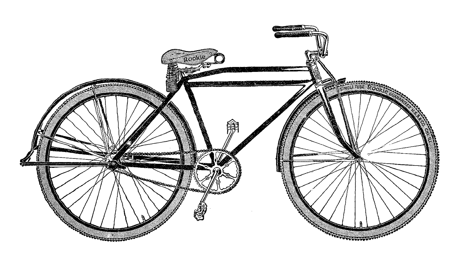 Bicycle transparent png stickpng. Cycle clipart antique bike image black and white