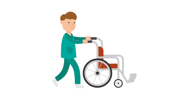 Wheelchair clipart nurse wheelchair. File pushing empty cartoon