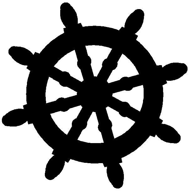 Captain clipart ship wheel. Free silhouette ships google