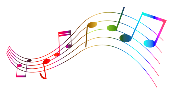 Whimsical music notes png. Transparent colorful clipart pinterest