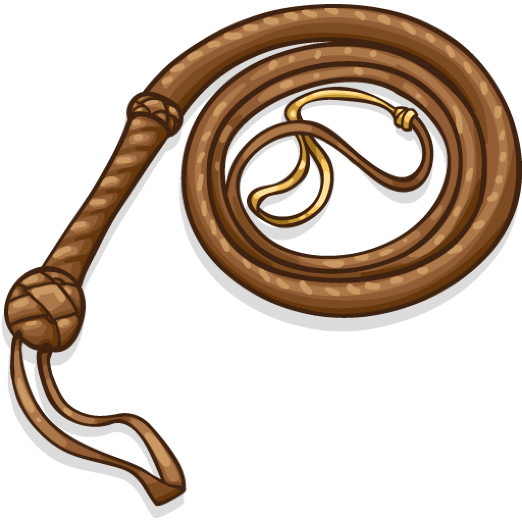 Whip clipart leather whip. Transparent png stickpng